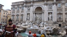 Real Roman Warriors at Trevi Fountain in Rome Italy - by Anika Mikkelson - Miss Maps - www.MissMaps.com