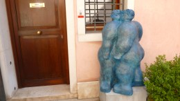 A piece by Fernando Botero - my favorite sculptor of all time - Venice Italy - by Anika Mikkelson - Miss Maps - www.MissMaps.com