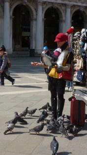 Bird Lady - Venice Italy - by Anika Mikkelson - Miss Maps - www.MissMaps.com