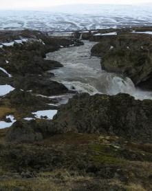 Godafoss Waterfall from Afar - Iceland - by Anika Mikkelson - Miss Maps - www.MissMaps.com