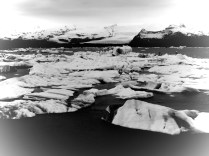 Icebergs in Black and White - Iceland - by Anika Mikkelson - Miss Maps - www.MissMaps.com