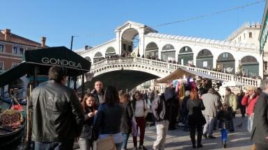 Rialto Bridge during rush hour - Venice Italy - by Anika Mikkelson - Miss Maps - www.MissMaps.com