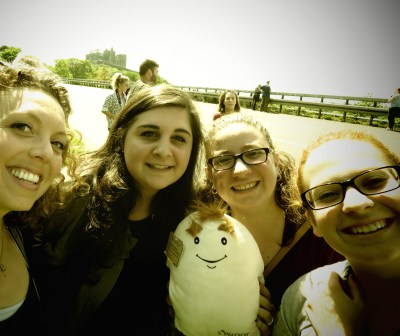 Spuddy Selfies in front of the Rock of Cashel - the Irish Potato - Ireland - by Anika Mikkelson - Miss Maps - www.MissMaps.com