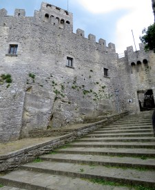 Steps to the Towers of San Marino - by Anika Mikkelson - Miss Maps - www.MissMaps.com