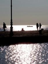 Walking on Water - Trieste Italy - by Anika Mikkelson - Miss Maps - www.MissMaps.com