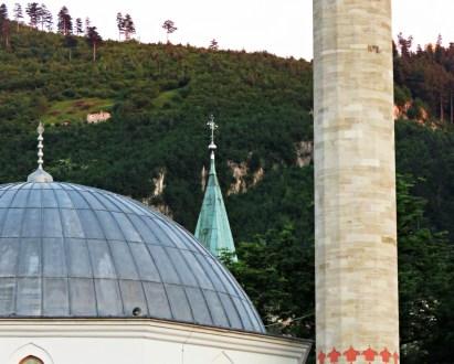 Mosque and Church United - Sarajevo BiH - by Anika Mikkelson - Miss Maps - www.MissMaps.com