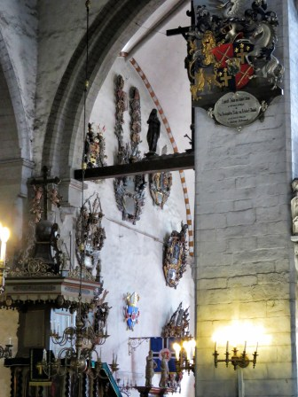 Shields of Saint Mary's Church - Tallinn Estonia - by Anika Mikkelson - Miss Maps - www.MissMaps.com