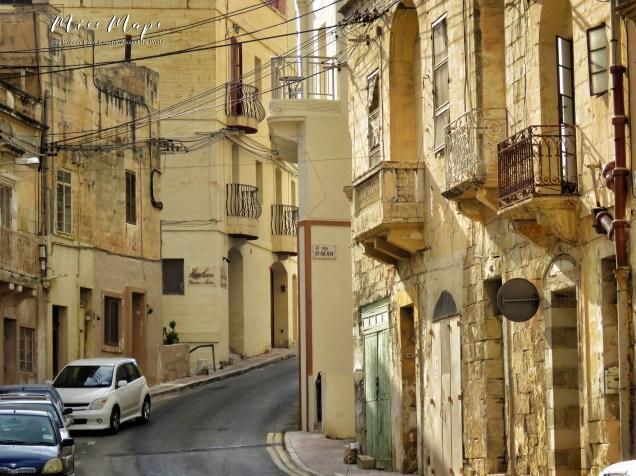 Streets of Malta - Malta - by Anika Mikkelson - Miss Maps - www.MissMaps.com