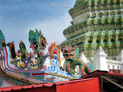 Temples and Dragons - Bangkok Thailand - by Anika Mikkelson - Miss Maps