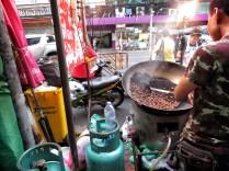 Roasting on the Street - Bangkok Thailand - by Anika Mikkelson - Miss Maps - www.MissMaps.com
