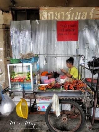 Texts and street food- Bangkok Thailand - by Anika Mikkelson - Miss Maps - Bangkok Thailand - by Anika Mikkelson - Miss Maps
