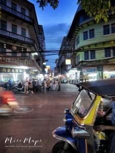 Waiting on the Tuk Tuk - Bangkok Thailand - by Anika Mikkelson - Miss Maps - www.MissMaps.com