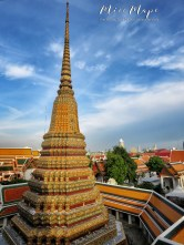 Wat Pho at Dusk - Bangkok Thailand - by Anika Mikkelson - Miss Maps - www.MissMaps.com