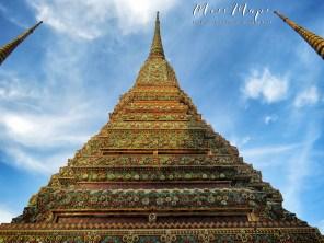 Wat Pho From Below - Bangkok Thailand - by Anika Mikkelson - Miss Maps - www.MissMaps.com