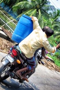 Motorbike Multitasking - View From the Bike en route to Mongla Bangladesh - by Anika Mikkelson - Miss Maps - www.MissMaps.com