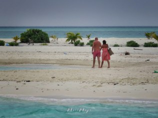 A Couple Walking on a Deserted Island - Indian Ocean Maldives - by Anika Mikkelson - Miss Maps - www.MissMaps.com