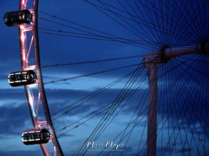 Singapore Flyer at Dawn - by Anika Mikkelson - Miss Maps - www.MissMaps.com