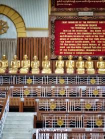 Buddhas Inside Maha Pasana Guya - Cave Pagoda - World Peace Pagoda - Yangon Myanmar - by Anika Mikkelson - Miss Maps - www.MissMaps.com