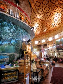 Circular Interior of Kaba Aye Pagoda - World Peace Pagoda - Yangon Myanmar - by Anika Mikkelson - Miss Maps - www.MissMaps.com