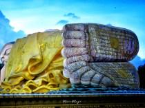Feet to Head of Mya Tha Lyaung - Reclining Buddha - Pagu Bago Myanmar - by Anika Mikkelson - Miss Maps - www.MissMaps.com
