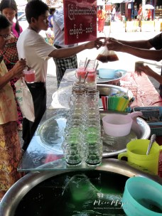 Fresh Juices - Yangon Street Market - Yangon Rangoon Myanmar - by Anika Mikkelson - Miss Maps - www.MissMaps - www.MissMaps.com