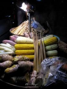 My Favorite Street Food - Steamed Corn and Yams - Downtown Yangon Myanmar - by Anika Mikkelson - Miss Maps- www.MissMaps.com