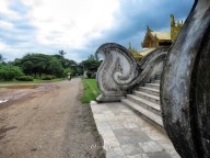 Palace Stairs and Umbrella Motorbike Rides - Bago Pagu Myanmar - by Anika Mikkelson - Miss Maps - www.MissMaps.com
