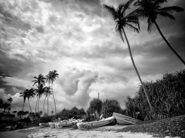 Quiet Beach with a Storm Approaching - Kegalle Sri Lanka - by Anika Mikkelson - Miss Maps - www.MissMaps.com