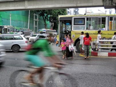 Transportation - Yangon Myanmar - by Anika Mikkelson - Miss Maps - www.MissMaps.com
