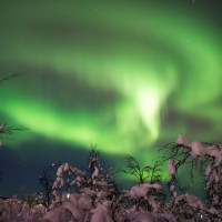 Amazing auroras over Swedish Lapland