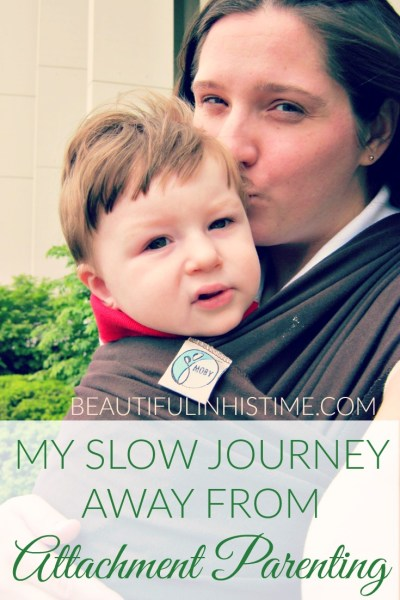 my slow journey away from attachment parenting