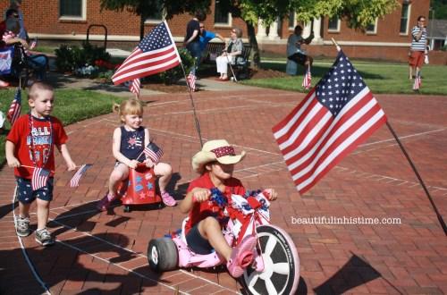 Patriotic Preschool Parade in Small-town North Carolina #patriotic #preschool #parade #4thofjuly #independenceday #Northcarolina
