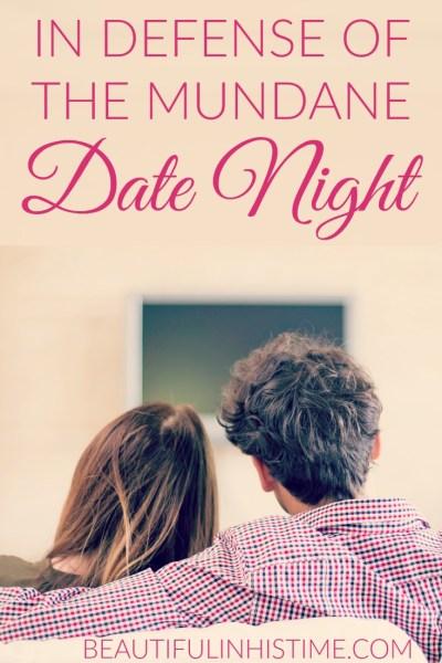 mundane date night