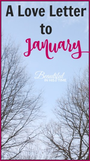 A Love Letter to January