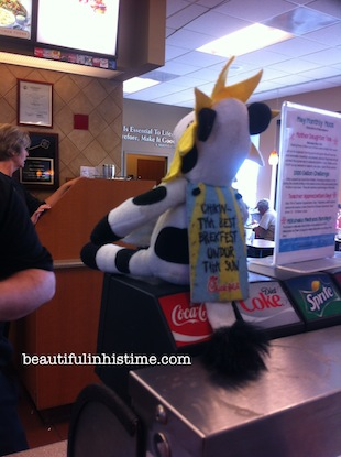 19 chickfila cow at chickfila