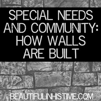 Special Needs and Community: How Walls Are Built