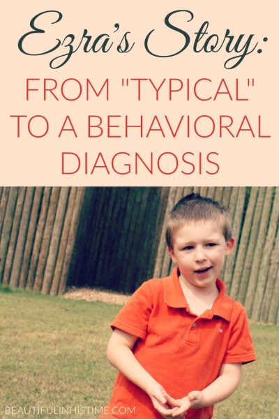 Ezra's story of receiving a behavioral diagnosis of ADHD and adjustment disorder, and my struggle as a mom to meet his needs and receive services before he received a special needs diagnosis.
