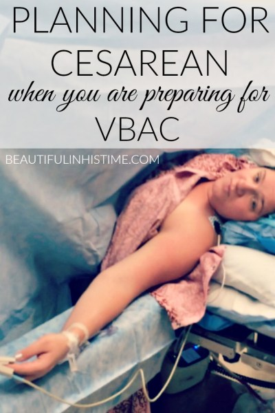 preparing for cesarean