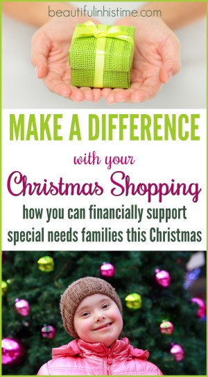 Wouldn't be great if your Christmas shopping not only blessed your friends and family but also went to support a special needs family? Look no further! Support families with disabilities with your online shopping cart! The proceeds from these Christmas gifts make a real difference!
