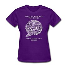 Speech-Language Pathology Word Bubble t-shirt - available in 6 colors!