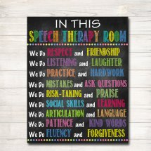 Speech Therapy Room Rules