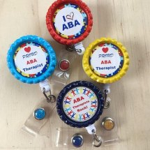 Retractable ID Holder Applied Behavior Analysis (ABA) Therapy Badge Reel