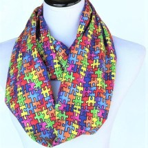 Autism Awareness Infinity Scarf