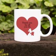 Custom Autism Teach Appreciation Christmas Ceramic Coffee Mug