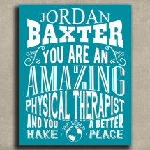Amazing Physical Therapist Personalized Art Print - Metal, Canvas or Paper