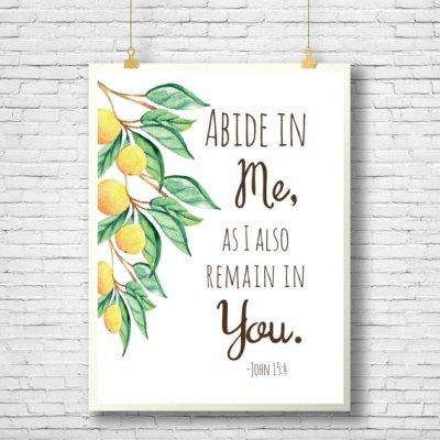 Abide in me John 15:5