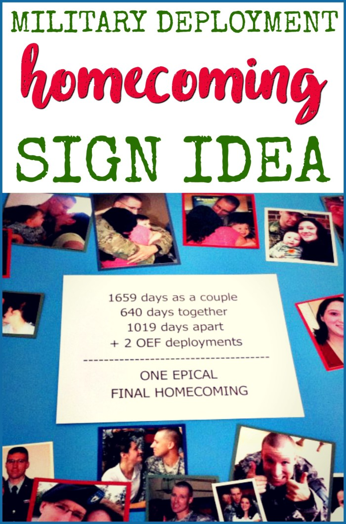 military deployment homecoming sign idea - honest deployment sign - final deployment homecoming - home for good - days apart, days together