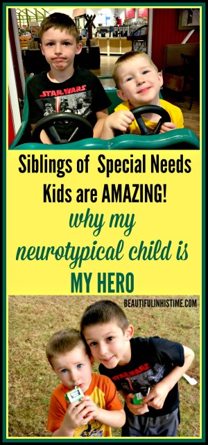 Siblings of special needs kids are amazing: why my neurotypical child is my hero | All too often I really don't know how to love my special needs child as I feel I should.  But all too often I really don't know how to love my neurotypical child as I should either, when I'm so exhausted and overwhelmed and broken.