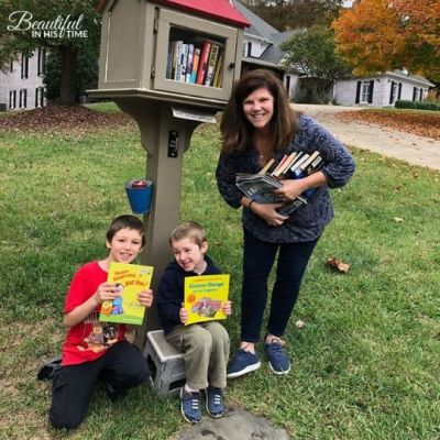 We are now Facebook friends with this lovely Little Free Library owner!