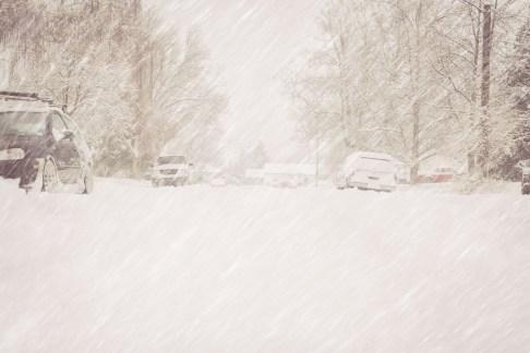 Deserted Winter Street